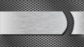 Textura perforada metal con la placa de metal cepillada Animación ligera brillante libre illustration