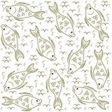 Textura Pescado Mundo subacuático stock de ilustración
