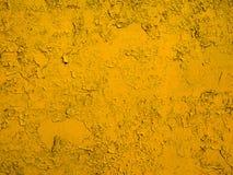 Textura pintada amarillo del metal Imagen de archivo