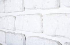 Textura pintada branco da parede de tijolo Fotos de Stock