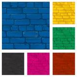 Textura pintada da parede de tijolo, vetor Fotos de Stock