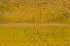 Textura pintada del yelllow Fotos de archivo