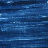 Textura pintada e riscada do grunge azul Fotos de Stock