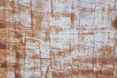 Textura pintada metal do Grunge Superfície de metal pintada com oxidação e pintura velha Retângulos azuis 2 Imagem de Stock Royalty Free