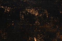 Textura pintada preta do metal com borrões, riscos e sparkles oxidados marrons foto de stock royalty free