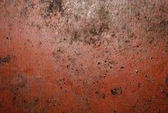 Textura pintada rojo del metal Fotografía de archivo