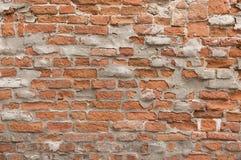 Textura pintada velha do fundo da parede de tijolo vermelho Fotos de Stock Royalty Free