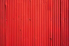 Textura pintada vermelho do metal Fotografia de Stock Royalty Free