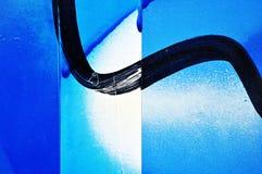 Textura pintada y pintada (con vaporizador) de la pared del metal Fotos de archivo libres de regalías