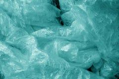 Textura plástica suja velha no tom ciano imagens de stock