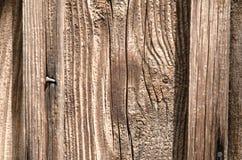 Textura, placa de madeira bonita com um prego Fotos de Stock Royalty Free