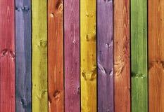Textura - placas de madeira coloridas Fotografia de Stock