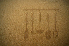 Textura plana de la arena de la cocina Fotos de archivo