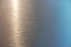 Textura plateada de metal Fotografía de archivo