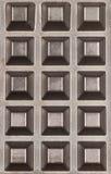 Textura plateada de metal alveolada Imagenes de archivo