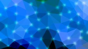 Textura poligonal azul brillante para el fondo abstracto ilustración del vector