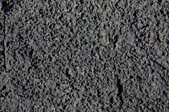 Textura preta da lava Fotos de Stock Royalty Free