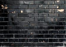 Textura preta da parede de tijolo do Grunge Foto de Stock Royalty Free