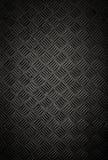 Textura preta da parede e do assoalho da placa do verificador do metal imagens de stock royalty free