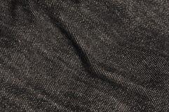 Textura preta das calças de brim Imagem de Stock