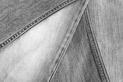 Textura preta de brim Imagem de Stock