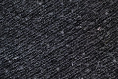 Textura preta de lãs, linhas diagonais Fotografia de Stock