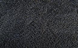 Textura preta de toalha Fotos de Stock Royalty Free