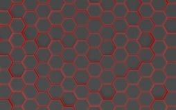 Textura preta do fundo do hexágono 3d rendem Imagem de Stock
