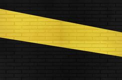 Textura preta e amarela da parede de tijolo da cor para imagens de fundo gráficas imagens de stock royalty free