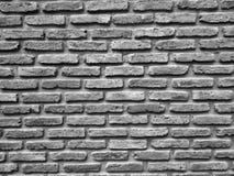 Textura preto e branco ascendente fechado da parede de tijolos Fotografia de Stock Royalty Free