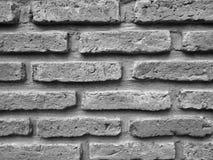 Textura preto e branco ascendente fechado da parede de tijolos Fotografia de Stock