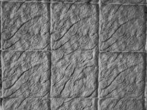 Textura preto e branco ascendente fechado da parede do granito Fotos de Stock Royalty Free