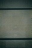 Textura preto e branco da grade do metal, favos de mel, sistema acústico imagens de stock