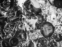 Textura preto e branco da pintura ilustração do vetor