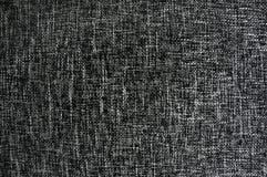 Textura preto e branco da tela Fotografia de Stock Royalty Free