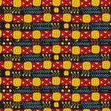 Textura primitiva étnica del ornamental del arte Fotos de archivo