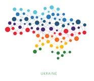 Textura punteada Ucrania con el vector de Crimea Imagen de archivo
