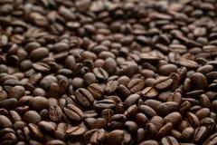 Textura pura dos feijões de café da goma-arábica fotos de stock royalty free