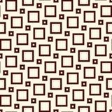 Textura quadrada da grade Motivo pitagórico da telha Projeto sem emenda do teste padrão com ornamento clássico Fundo geométrico Fotos de Stock
