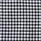 Textura quadriculado preto e branco da toalha de mesa Imagens de Stock
