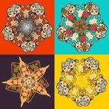 Textura quatro abstrata das mulheres nos biquinis Imagem de Stock Royalty Free
