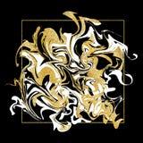 Textura que vetea Bandera de oro del mármol del brillo Fotos de archivo libres de regalías