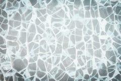 Textura quebrada del vidrio del parabrisas fotos de archivo