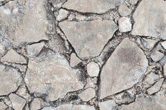 Textura quebrada rocha Fotografia de Stock Royalty Free