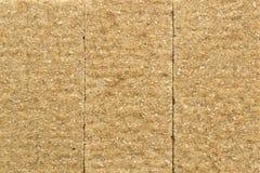 Textura quebradiza del pan del salvado del centeno Imagen de archivo libre de regalías