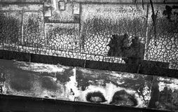 Textura queimada B&W da nave espacial Fotos de Stock