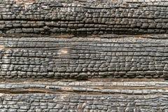 Textura quemada de madera imagenes de archivo
