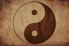 Textura rústica de Yin Yang en fondo sucio stock de ilustración