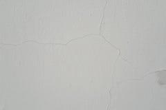 Textura rachada da parede branca do fundo Fotografia de Stock Royalty Free