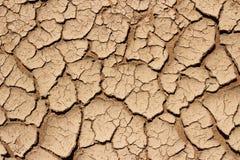 Textura rachada seca da terra Foto de Stock